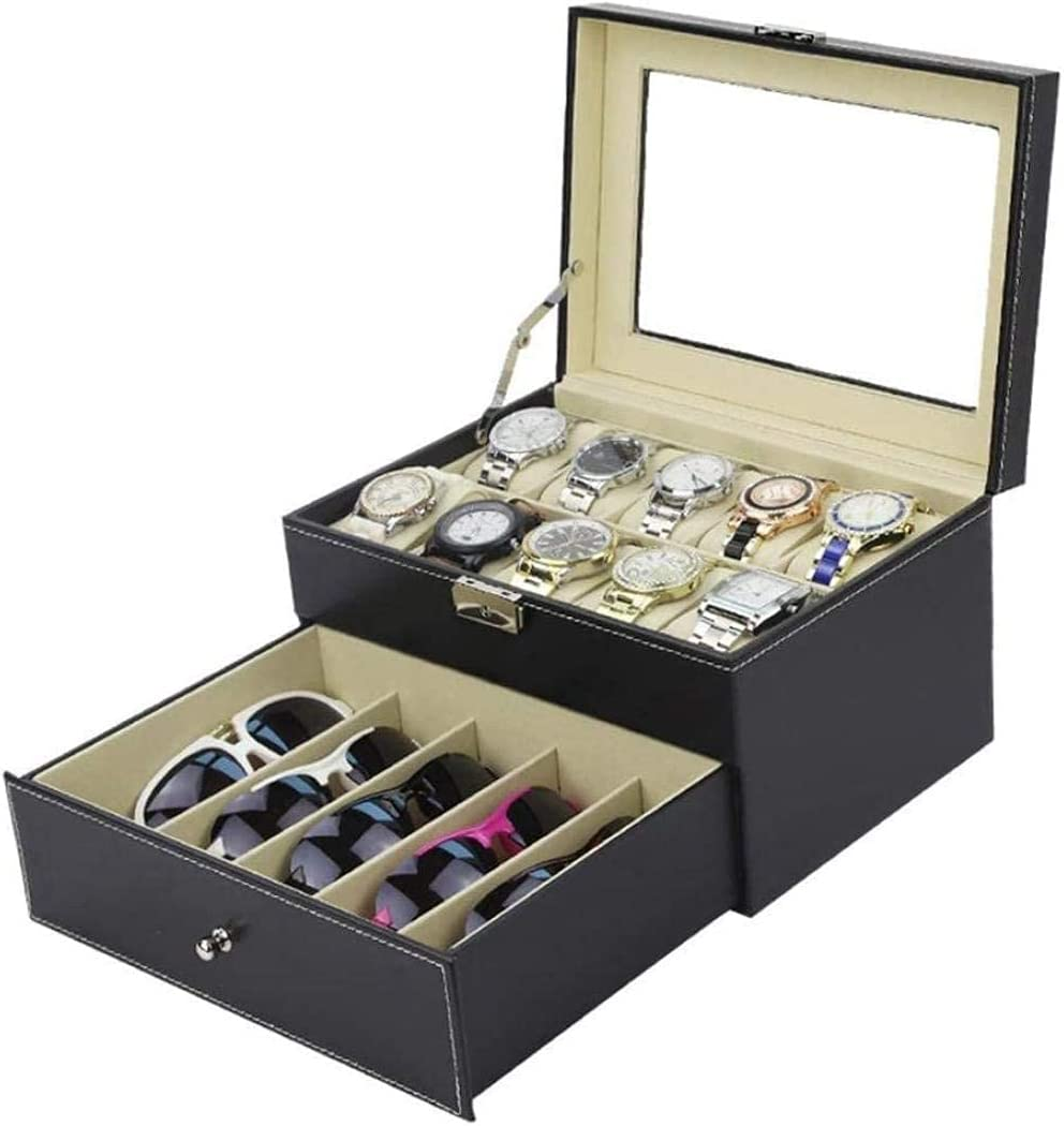 AMCCIC 5 Double-Layer Glasses Watch El Paso Mall Direct stock discount Storage Box Display