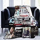 Greys-Anatomy Plush Flannel Blanket Soft and Warm Throw Digital Printed Ultra-Soft Micro Fleece Blanket for Car Couch Bed Living Room All Seasons 50'x40'