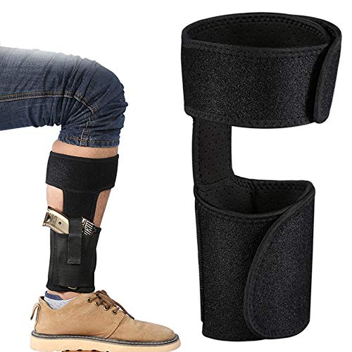 Ankle Holster for Concealed Carry, with Elastic Secure Strap & Spare Magazine Pouch Leg Carry Gun Holster Fits for Small to Medium Frame Pistols & Revolvor Concealment