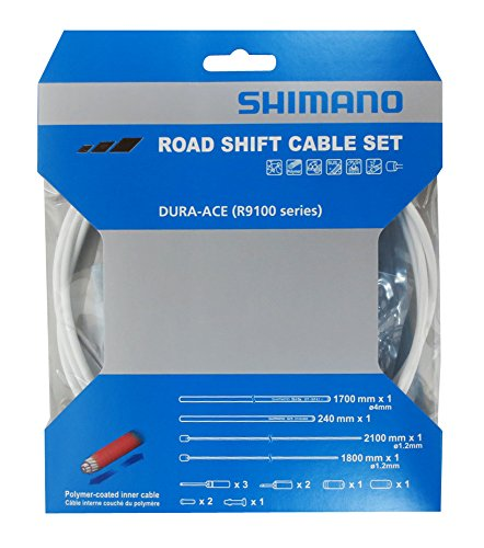 Shimano Dura-Ace R9100 SP41 Polymer-Coated Derailleur Cable Set, White