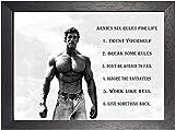 Arnold Schwarzenegger #2 Schwarz und Weiß Motivation Sechs