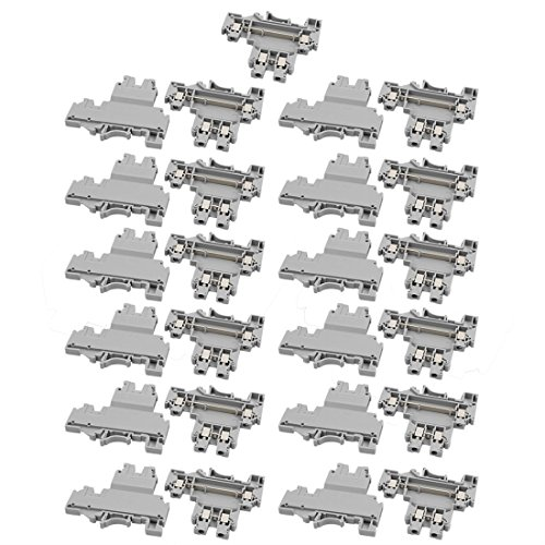 Aexit 25Pcs UKKB3 Bloque de terminales de doble nivel para