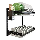 Kitchen Dish Rack Hanging Drying Plate Organizer Storage...