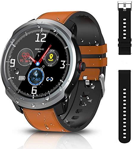 BYTTRON Reloj Inteligente, Bluetooth Smartwatch Fitness Tracker IP68 Rastreadores de Actividad Impermeables con GPS Registro Deportivo Podómetro Monitor de Monitor de presión Arterial Monitor