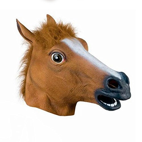 Guizen Latex Tête d'un animal tête masque pour Halloween Party/Masque de Effroyable /masque de cheval