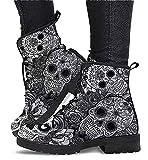 Zapatos de Tobillo cómodos de Cuero para Mujer, Botas de Cuero Retro de Verano a la Moda para Mujer (Color : Grey1, Size : 39)
