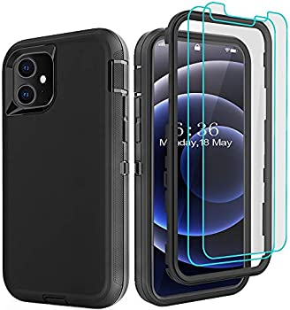 DiverBox Rugged Heavy Duty Case for for iPhone 12/12 Pro (Black)