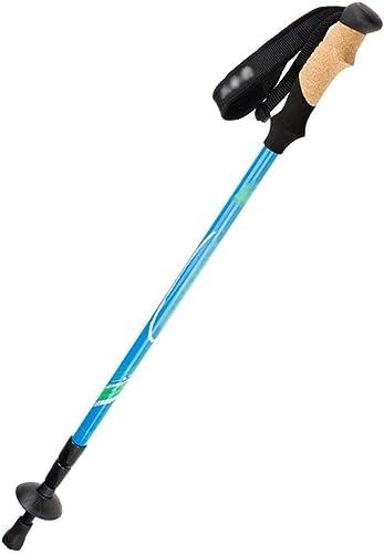 Batons de trekking, fibre de voiturebone légère, grimpable en extérieur, réglable (Couleur  BLEU)