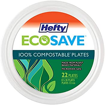 22-Count Hefty ECOSAVE 8-3/4 Inch Compostable Plates