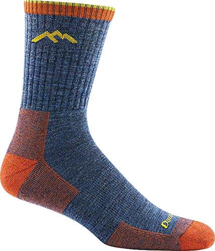 DARN TOUGH (STYLE #1466) Men's Merino Wool Micro Crew Hiker Sock With Cushion - Denim, Large