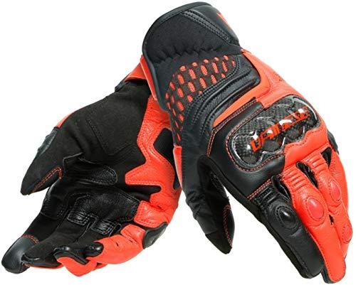 Dainese Carbon 3 Short Motorradhandschuhe Schwarz/Rot M