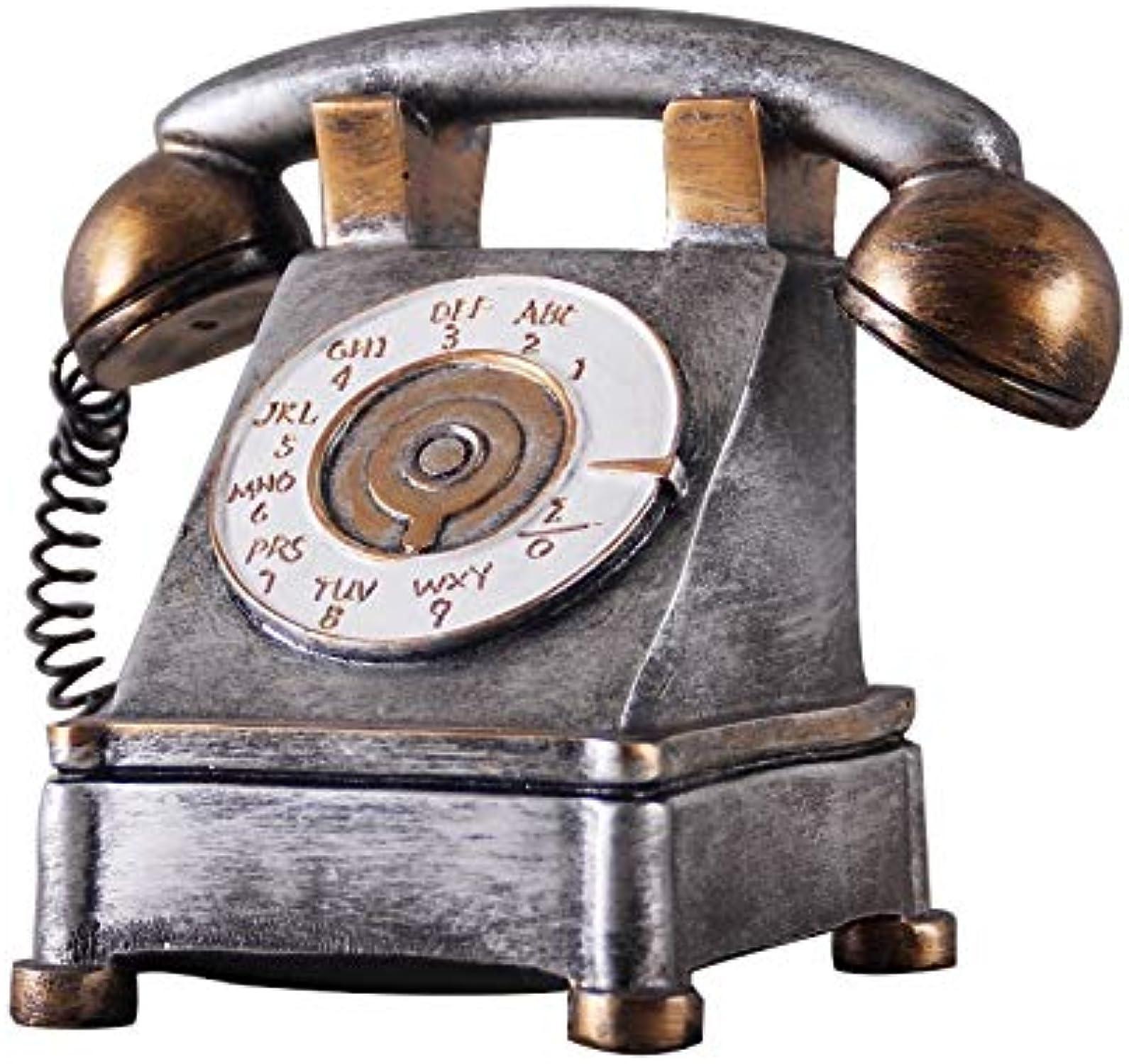 ventas de salida Inveroo Casa Decoración Europeo Retro Teléfono Ornamentos Teléfono Miniatura Miniatura Miniatura Tienda Monedas Resina Artesanías Caja Dinegro Casa Accesorios De Decoración  Con 100% de calidad y servicio de% 100.