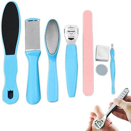 lzndeal Râpes à Pieds en acier inoxydable Kits de manucure Outil de Pédicure Elimination de Callosité des Pieds
