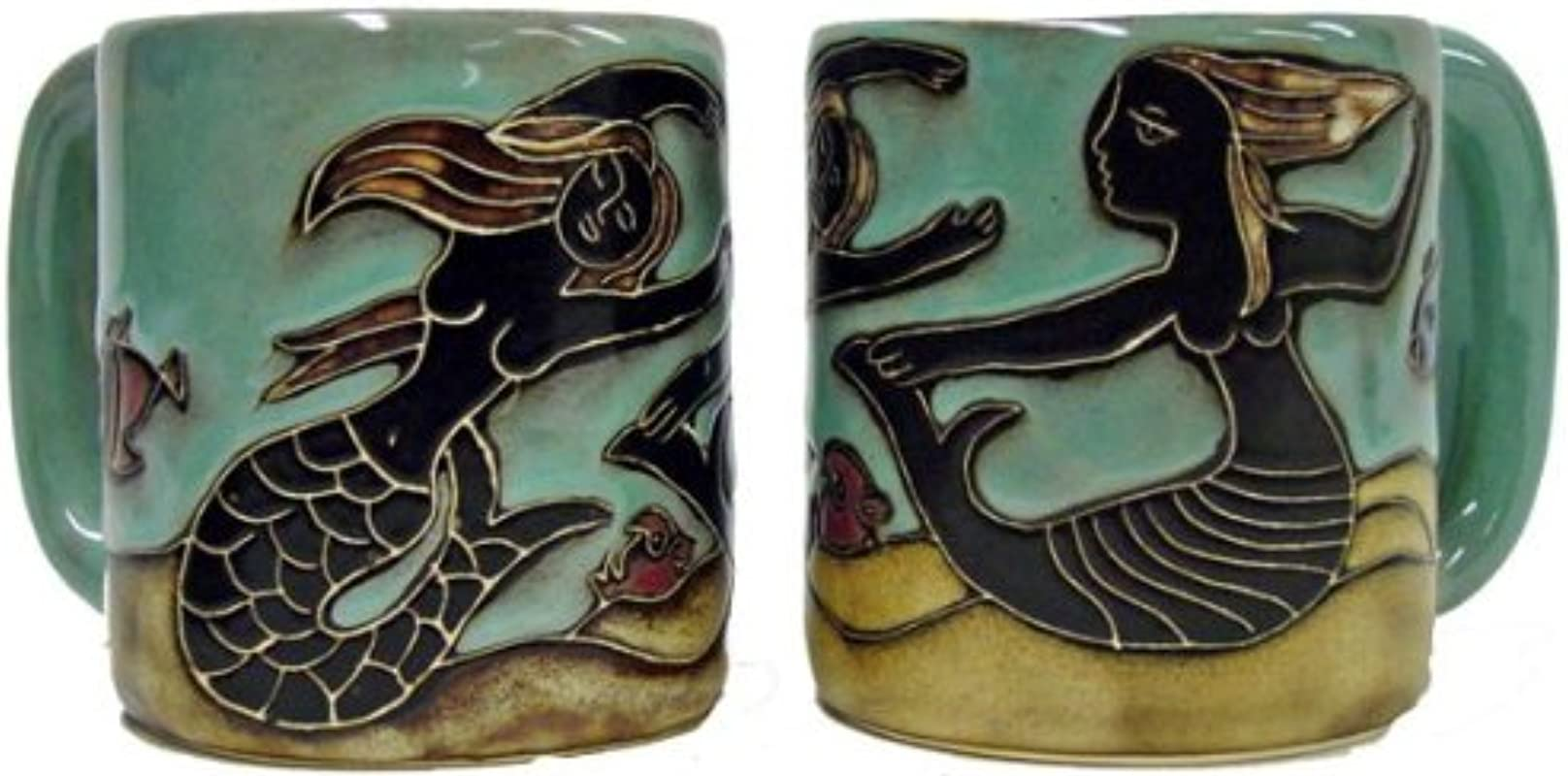 One 1 MARA STONEWARE COLLECTION 16 Ounce Coffee Cup Collectible Dinner Mug Mermaid Design
