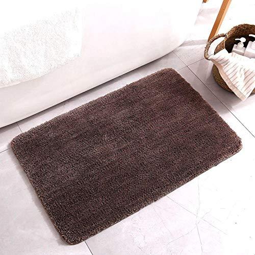 badmatten antislip badmatten antislip Low-fleece vloermat badmat-Donkerbruin_40cmx60cm