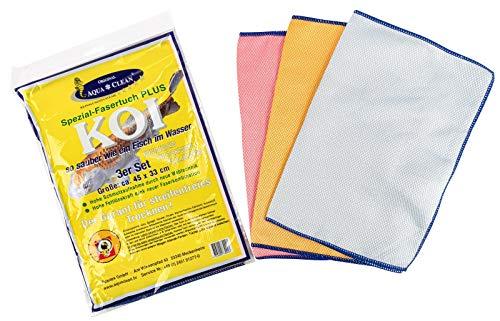 AQUA CLEAN Koi Spezial Fasertuch Plus 33cm x 45cm 3er Set