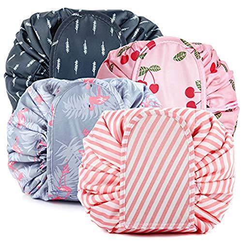 4pcs Drawstring Makeup Bags Large Capacity Waterproof Travel Portable Bag