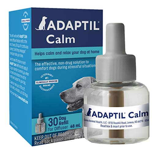 Adaptil Dog Calming Diffuser Refill (1 Pack, 48 ml), Vet Recommended, Reduce Problem Barking, Chewing, Separation Anxiety & More