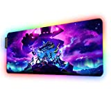RGB Large Gaming Mouse Pad for fortnite Galactus Marvel-Skin,12 Lighting Modes & Non-Slip Rubber Base Mousepad-Long Glowing Laptop Desk Pad,Computer Keyboard and Mice Combo Pads Mouse Mat-31.5X11.8