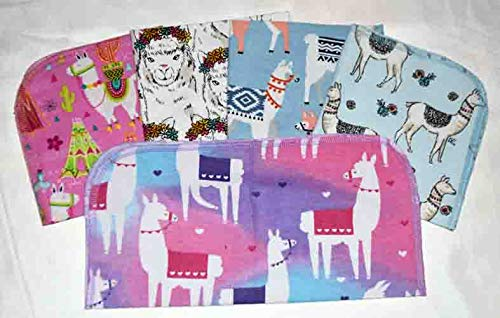 1 Ply Max 78% OFF 12x12 Inches Sales results No. 1 Set of and 5 Paperless Alpacas Flannel Towels