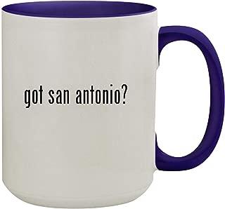 got san antonio? - 15oz Ceramic Inner & Handle Colored Coffee Mug, Deep Purple