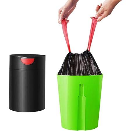 5-Rolls Thicken Rubbish Garbage Kitchen Toilet Office Clean-up Waste Trash Bags