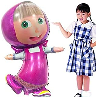 [RusToyShop] 1 Psc BIG Metal Inflatable Balloon Masha and Bear for a Holiday Children's Kids Party Party Favor Party Supplies Invitation Deco Russian Cartoon 77cm (31 inch)