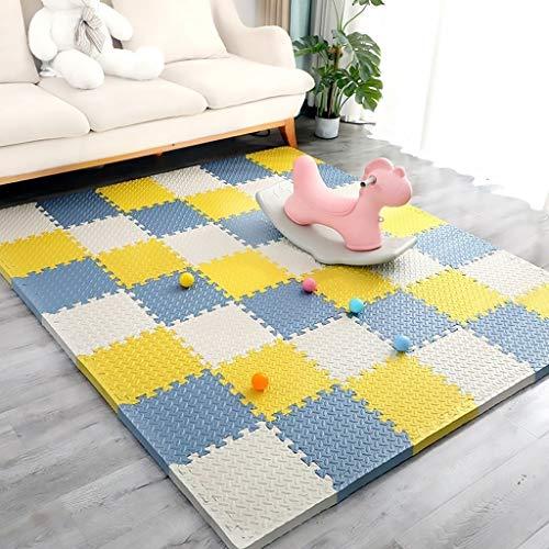 Huoo Schaum Spielmatte Dick, Mehrfarben Weiche Babyboden-Krabbelmatte (Color : G, Size : 9 Piece)