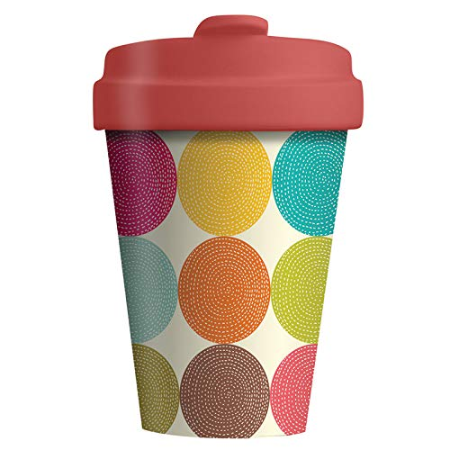 Coffe to go Becher Bamboo Cup (Bright Circles)