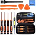 Vastar T6 T8 T10 Xbox One Screwdriver Set, 12 in 1 Xbox Repair Kit for Xbox One Xbox 360 Controller and PS3 PS4 Controller with Cross Screwdriver 1.5, Safe Pry Tools, Cleaning Brush & Cloth in EVA Bag from Vastar