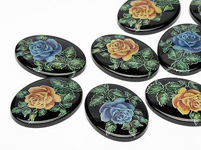 OPTIMA Pierres de gemme de Ovale 30x40mm (Rose Mix), 30 Pièces