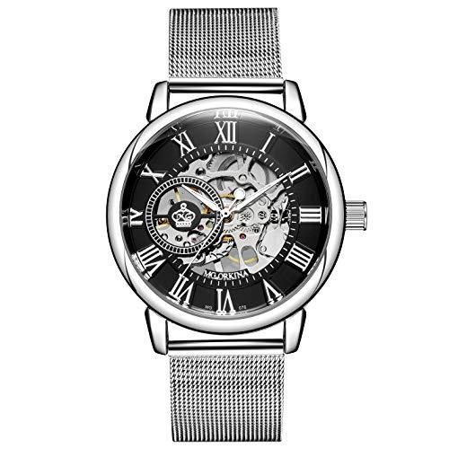 Sweetbless出品 腕時計 手巻き 3Dフルスケルトン おしゃれメンズ 重厚さと上品さを兼ね揃えたメンズ機械式モデル 時計