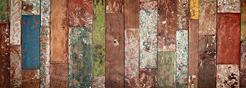VINILIKO Industrial Wood Alfombra de Vinilo, Multicolor, 50x140