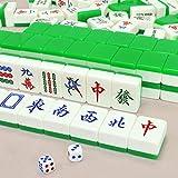 ZXF- Tarjeta De Mahjong para Frotar A Mano De Acrílico Grande para El Hogar, 37 × 40 × 42, Que Incluye Tela Mahjong De Bolsillo 95cm * 95cm