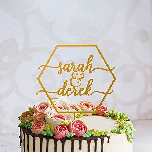 Aangepaste bruiloftstaart topper,Mr en Mrs Silhouette Cake Topper,Maak je eigen met voornaam, Rustieke Silhouette Cake Topper voor verjaardag