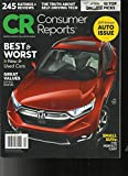 Consumer Reports Magazine April 2017-Annual Auto Issue-Best &Worst New and Used Cars