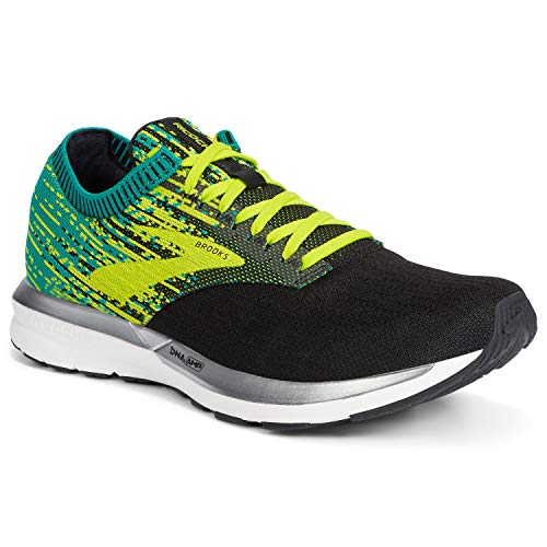 Brooks Ricochet, Zapatillas de Running por Hombre, Negro (Black/Lime/Blue Grass 071), 45.5 EU