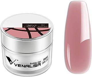 VENALISA 1 unids 50 ml Nail Art Acrílico Francés Uñas Luz Desnudo Rosa Natural Color Constructor Uñas Extender Gel