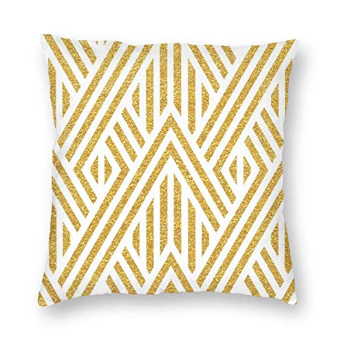 Square Throw Pillow Covers Gold Combine Pillow Cases Car Home Invisible Zipper