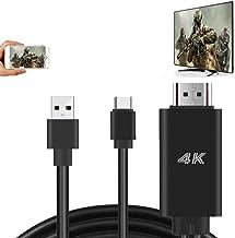 Adaptateur HDMI//Micro USB pour Samsung Galaxy J5 2016 Smartphone Television TV 3D Full HD 4K Ecran 1080P Noir
