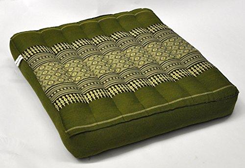 Wilai Sitzkissen 41 x 41 x 7 cm Thaikissen Kapok Bodenkissen Stuhlkissen Auflage