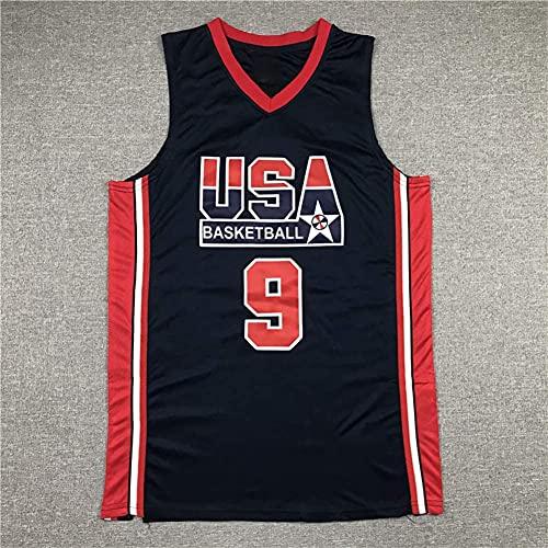 Jordania USA Dream Team - Camiseta de Baloncesto para Hombre, de Secado rápido, Transpirable, cómoda, para Entrenamiento, Talla M(Size:/L,Color:G1)