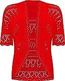 RageIT - Bolero de hombro para mujer chaqueta de ganchillo de punto de manga...