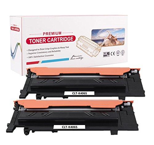 RadTek Compatibel met Samsung CLT-K406S toner voor Samsung Xpress C460W C460 C410W CLP-360 CLP-360ND CLP-365 CLP-365W CLX-3305 CLX-3300 printer | 1 zwart, 1 cyaan, 1 magenta, 1 geel 2x Schwarz