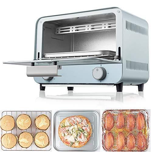 Mini Oven 9L | Horno Tostador | Horno Electrico | Horno | PequeñO Horno | Bandeja De Migas ExtraíBle | Cocina PortáTil/Hornear/Grill,Blue-800W