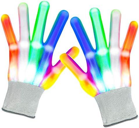 Led Gloves Kids Glow Gloves 6 Modes 5 Colors Light Up Gloves Finger Light Gifts for Children product image