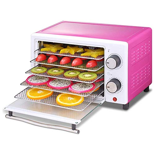 Buy HEMFV Electric Food Dehydrator Machine, 5 Drying Trays Food Dryer with Adjustable Timer and Temp...