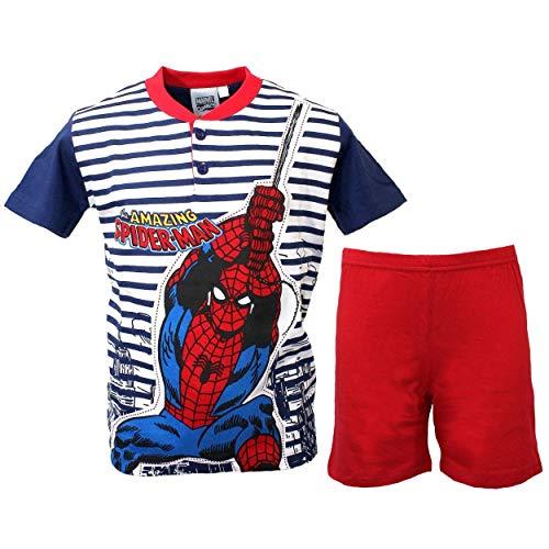Pijama Niño Spiderman Hombre Araña Media Manga 8–9-10años puro algodón 16099b