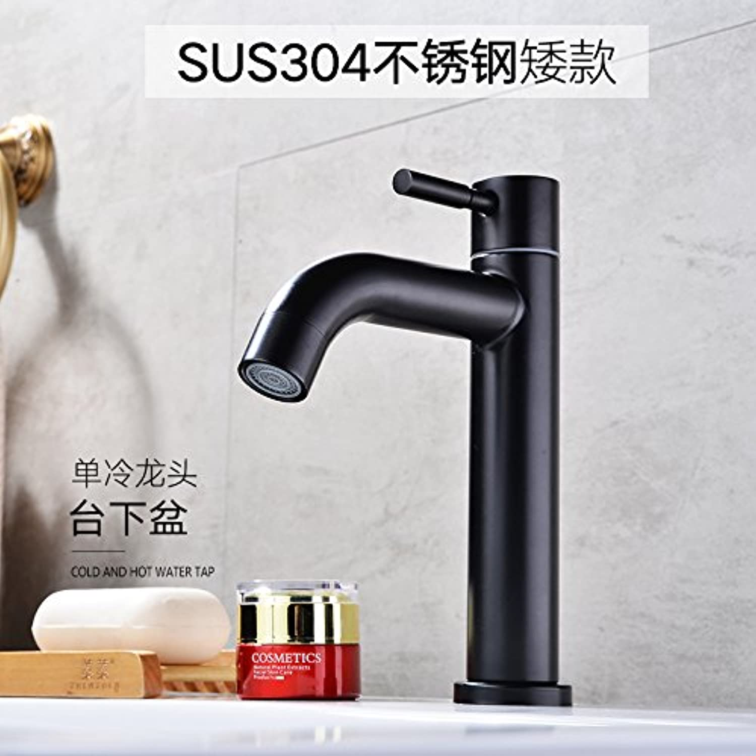 ETERNAL QUALITY Bathroom Sink Basin Tap Brass Mixer Tap Washroom Mixer Faucet One cold water tap washbasin wash-hand basin Single Hole 304 stainless steel fittings Kitche