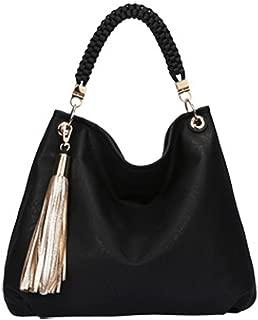 Elegant Gold Tassle Hobo Bag